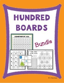 Hundreds Boards: Charts, Worksheets & Task Cards