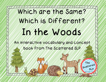 In the Woods Interactive Book for Same and Different