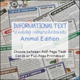 Reading Comprehension Passages   Questions   Task Cards
