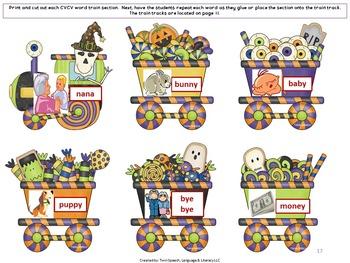 Fun & Interactive Halloween-Themed Apraxia Exercises: VC, CV AND CVCV WORDS