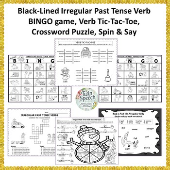 Irregular Past Tense Verbs-Write the Room, BINGO, Flashcards, Worksheets