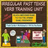 Irregular Past Tense Verbs-Write the Room, BINGO, Flashcards, Worksheets