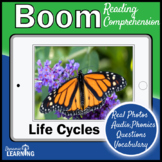 Life Cycle Reader and Activities Boom Cards for Distance Learning