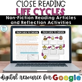 Life Cycles Digital Reading Comprehension | Distance Learning
