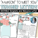 Meet the Teacher Templates | EDITABLE Mason Jars