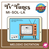 Music Distance Learning: Mi-Sol-La Melodic Dictation  BOOM Cards