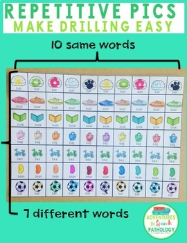 Mini Apraxia Picture Cards - for Crafts & Drilling