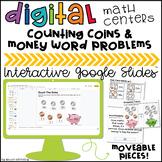 Money Digital Centers for 2nd Grade Google Classroom™ Dist