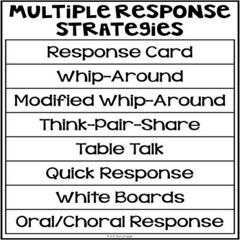 Multiple Response Strategies Posters (MRS)