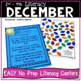 NO PREP LITERACY Centers for December