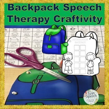 Backpack Speech Therapy Craftivity: INCLUDES 200+ MINI ARTICULATION FLASHCARDS