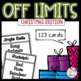 Off Limits - Christmas Vocabulary