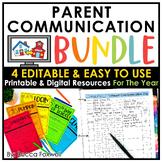 Parent Communication BUNDLE - Editable | Printable | Digit