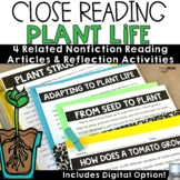 Plant Life Cycle and Parts Reading Passages Comprehension