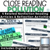 Pollution Reading Passages | Water, Air, Land | Earth Day