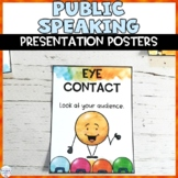 Public Speaking and Listening Skills Posters