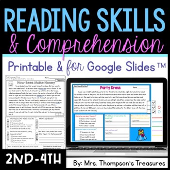 Reading Skills - Finding Text Evidence Reading Comprehensi