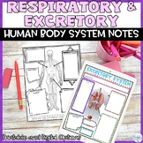 Respiratory Excretory Human Body System Digital Note Activity