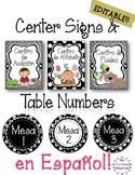 Rotulos para los centros del salon - Editable Spanish Center Signs