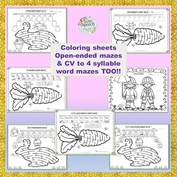 SPRING SPEECH MAZES:NO PREPJust Fun! 35 Sounds + CV to 4 Syllable Level Words