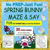 SPRING SPEECH MAZES:NO PREPJust Fun! 35 Sounds + CV to 4 S