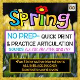 NO PREP SPRING-THEMED ARTICULATION: /L/, /S/, /R/, /TH/, & /V/ SOUNDS