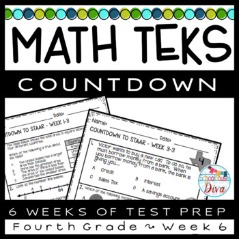 4th Grade Math TEKS Countdown - Week 6