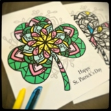 St. Patrick's Day Mandala Posters and coloring page Bundle