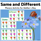 Flowers Same and Different Sorting Activity for Mother`s Day