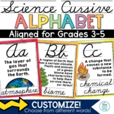 Science Alphabet Posters Cursive