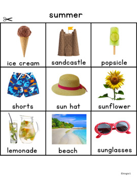 Seasons Sorting - Spring, Summer, Autumn, Winter