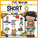 Short O Worksheets ~ CVC Words Activities NO PREP Printables