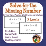Solve for the Missing Number Variety Pack - Addition and S