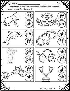 Sounds Of F Gh Ph Ff Word Work Activites By Lori Flaglor Tpt