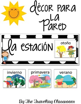 Spanish Weather & Seasons Set - La estación y el tiempo