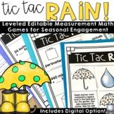 Spring Math Games (Tic Tac Rain)