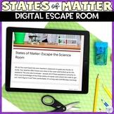 States of Matter Digital Escape Room Activity