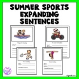 Summer Sports Expanding Sentences for Speech Language Therapy