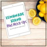 Summer Themed Portrait iPad Mockups   Lemonade Styled Images