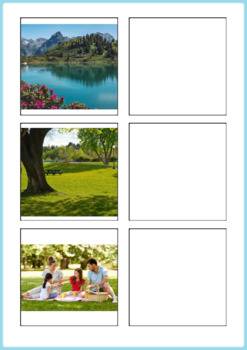 Summer Activity - Word to Picture Match