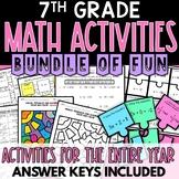 7th Grade Math Activities Growing Bundle