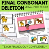 Teach Phonology: Final Consonant Deletion Story & Minimal Pair Cards