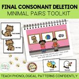 Teach Phonology: Final Consonant Deletion Story & Minimal Pair Cards