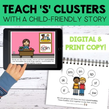 Teach Phonology - 'S' Cluster Reduction Story & Minimal Pairs