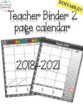 Teacher Planner 2017 - 2018 Black & White Polka Dot Theme