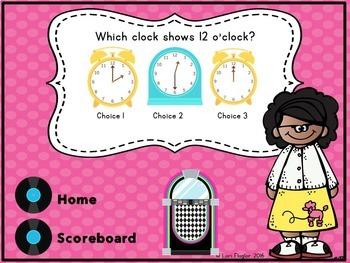 Telling Time Interactive Math Game First Grade Edition