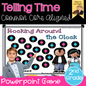 Telling Time Interactive Math Game Second Grade Edition By Lori Flaglor