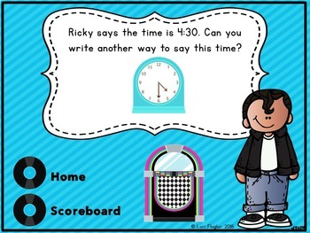 Telling Time Interactive Math Game Second Grade Edition