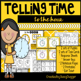 Telling Time to the Hour Task Cards and More
