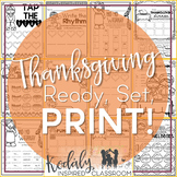 Music Worksheets for Thanksgiving {Ready Set Print}